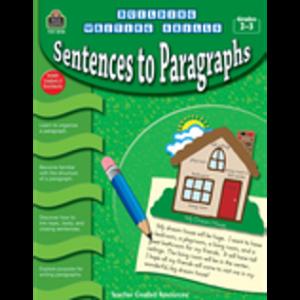 Sentences to Paragraphs Activity Books