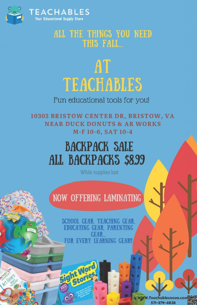 All the things you need this fall... At Teachables